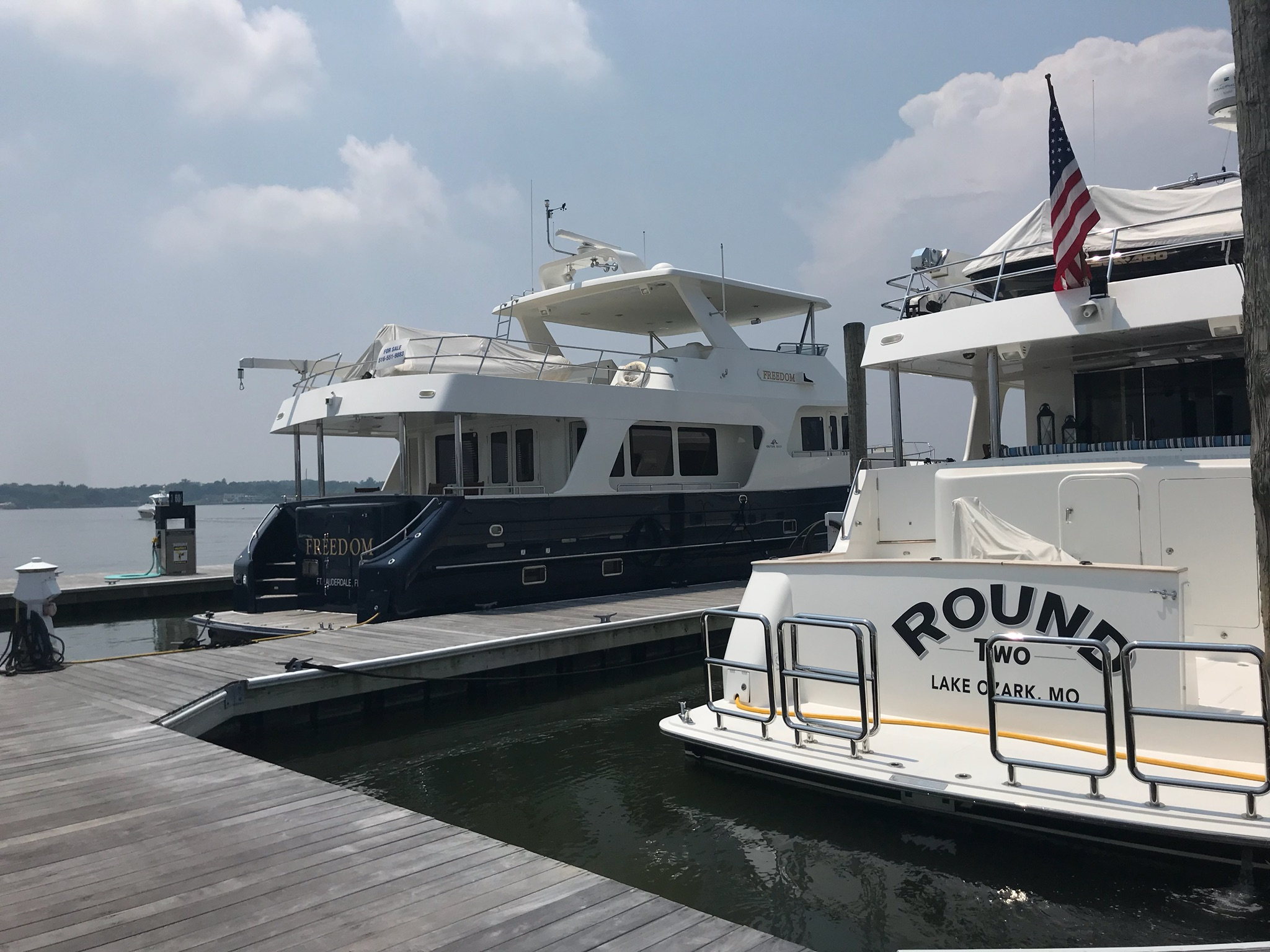 Two Outer Reef Yachts Docked in New York, New York