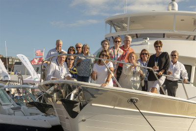 New 700 Outer Reef ANA LUISA Christened At 2018 Newport Boat Show