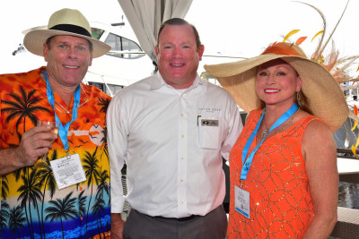 Outer Reef New 610 Motoryacht Kentucky Derby Themed Christening Celebration