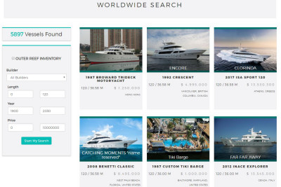 New Outer Reef Website Worldwide Yacht Search