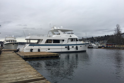 New 700 Motoryacht Moves in to her 2019 Seattle Boat Show Location