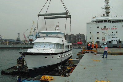 Another New Outer Reef 700 Motoryacht Loaded for Delivery