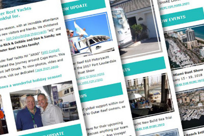 Outer Reef Yachts Monthly Newsletters