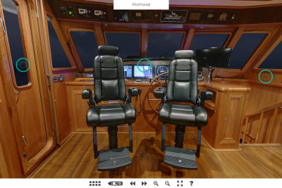 New Virtual Tour! 740 Deluxbridge Skylounge Motoryacht