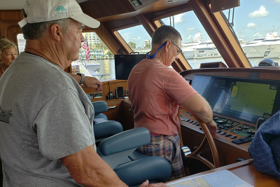 Owners of a New 720 Motoryacht TAILWINDS During Training and Sea Trial