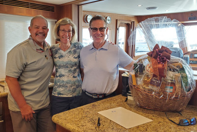 Owners of New 720 Motoryacht TAILWINDS Closing Ceremony