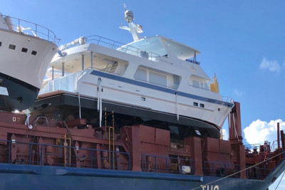 Another New 720 Motoryacht Offloaded in Fort Lauderdale, Florida