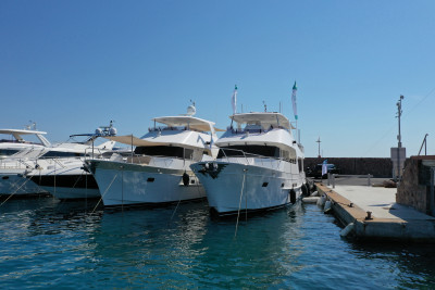 Two Impressionable Outer Reef Yachts Garnered Attention In La Napoule, France