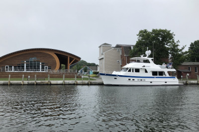 Beautiful 610 Motoryacht SILVER SKYE Visits Mystic, Connecticut