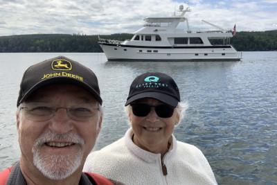 Outer Reef 700 Motoryacht JOURNEY Visiting Port Gamble, Washington