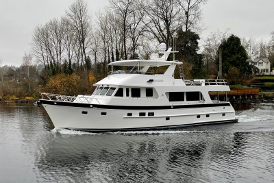 700 Motoryacht JOURNEY on Display at the 2021 Seattle Boats Afloat Show