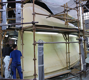 Trident Hull Mold under Construction