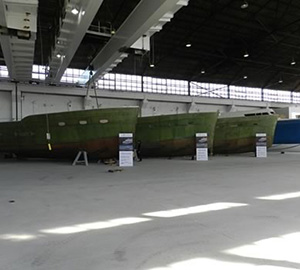 Third Trident hull extracted from mold