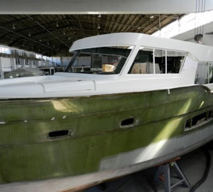 Trident superstructure and transom successfully dry fitted on hull