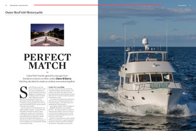Ocean Magazine's Outer Reef 610 Boat Review Article PERFECT MATCH