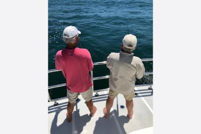 Fishing Off Large Outer Reef Swim Platform