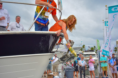 New Outer Reef 610 Christening Moment Captured